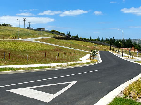 Engineered roads and pavements form the backbone of a new subdivision.